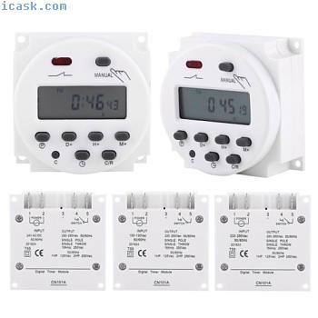 CN101A 24V-220V LCD数字每周可编程电源定时器时间继电器开关
