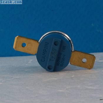 THERMOSTAT BIMETAL SNAP Ty 60 45-1 110°C 16A 250V STANDART VAMPION CAMPINI