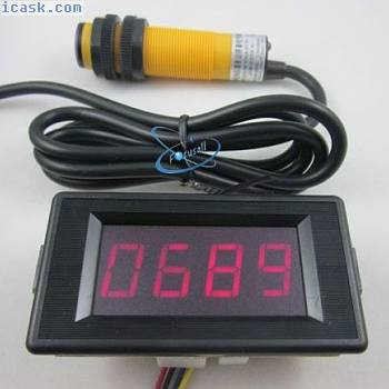 12V 4位红色计数器+红外接近光电开关am.hg0088.com代理3|官方网站NPN