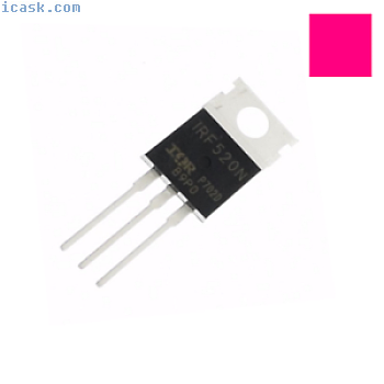 3/10/25/50 / 100pcs IRF520 IRF520N IRF-520功率MOSFET N-Channel TO-220