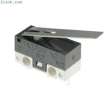 5 x超迷你长杆执行器微动开关SPDT微型微型开关
