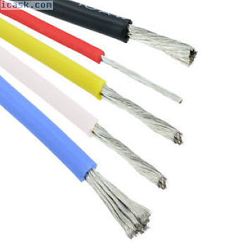 10/12/14/16/18/20/22 / 24AWG硅胶线缆 - 所有颜色和尺寸