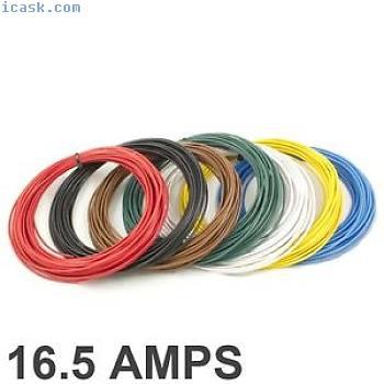 * 16.5安培额定* 1mm2薄壁单芯电缆/导线 -  7种颜色选择