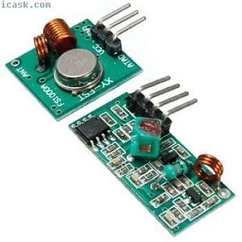 用于Arduino MCU的5个433Mhz无线射频发射器和接收器套件
