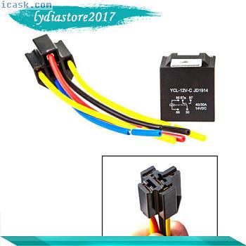 10PCS 12V 30 / 40A SPDT汽车继电器W /电线&