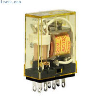 IDEC插入式继电器5A触点4PDT 240VAC线圈RY4S-UAC220-240 NIB