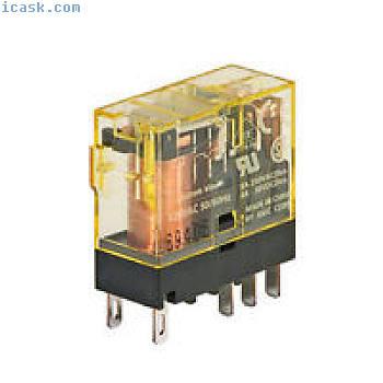 IDEC插入式继电器8A触点DPDT 24VAC线圈指示灯RJ2S-CL-A24 NIB