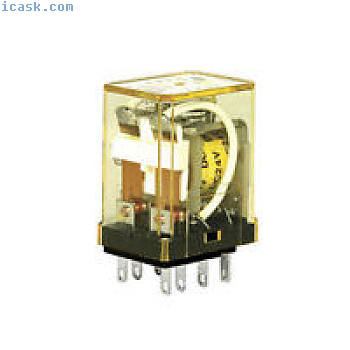 IDEC插入式继电器5A触点DPDT 24VDC线圈指示灯RM2S-ULDC24 NIB