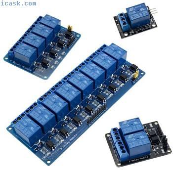 12V继电器板模块低电平 -  1,2,4,8通道