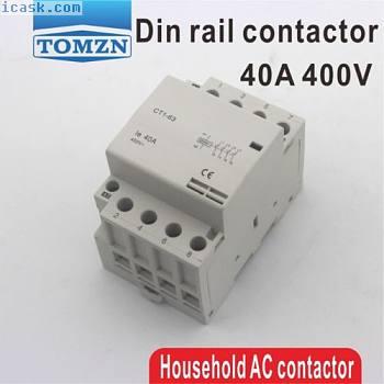 CT1 4P 40A 220V 400V?50 / 60HZ导轨式交流接触器4NO