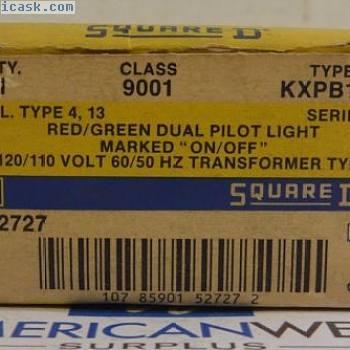 方形D 9001 KXPB124  - 红色/绿色双引导灯 - 新的框