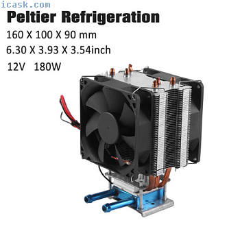 热电帕尔帖制冷空气散热器水冷系统12V 180W
