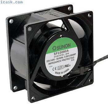 SF23080A2083HSL轴流式风扇80x80x38mm 230V〜2300rpm从Sunon