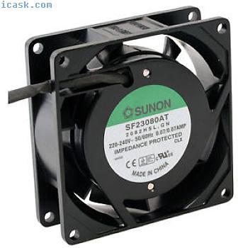 SF23080AT2082HSL轴向风扇80x80x25mm 230V〜2350U / min