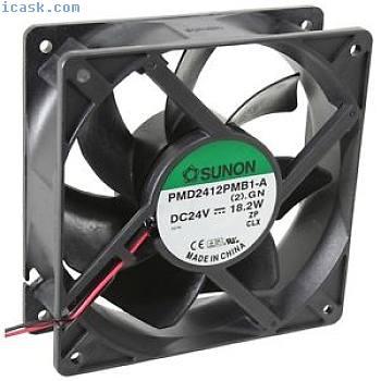 PMD2412PMB1A轴流式风扇120x120x38mm 24V =322m³/ h来自Sunon的4200rpm