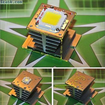 10  -  100 W瓦铝散热器LED芯片/散热器DIY泛光灯SMD泛光灯