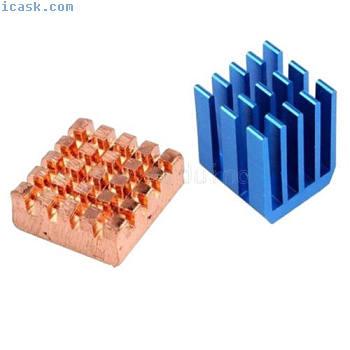用于Raspberry Pi 3树莓派2 B +的铜铝散热散热器套件