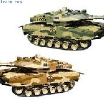 i.onik  - 设置2个R / C坦克,颜色:绿色/棕色
