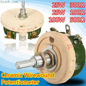 高功率线圈电位器变阻器可变电阻可调