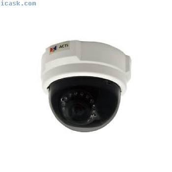 ACTi D54 IP安全摄像机室内圆顶白色安全摄像机 - 安全摄像机