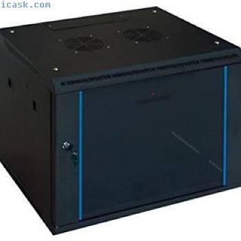 "Tecnoware 19""Wall Pro 6U黑色墙壁电流机柜"