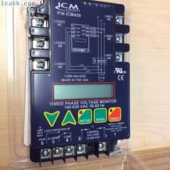 ICM450C 3相线路电压监视器可编程25个故障存储器