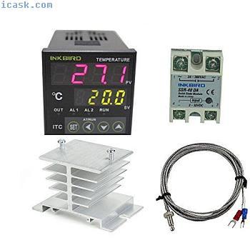 HVAC控制AC 100 220V ITC-100VH插座数字PID温控器温度DA