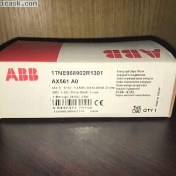 ABB PLC 1TNE968902R1301 AX561 AO模拟量输入/输出模块