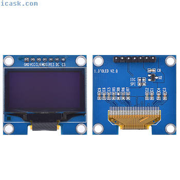 1.3In IIC 7Pin 128X64 OLED LCD LED显示模块SSD1306适用于Arduino SG