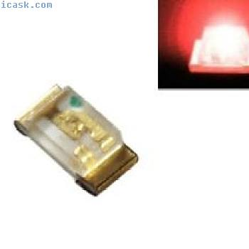 S186  -  100片SMD LED 0603红色LED红色