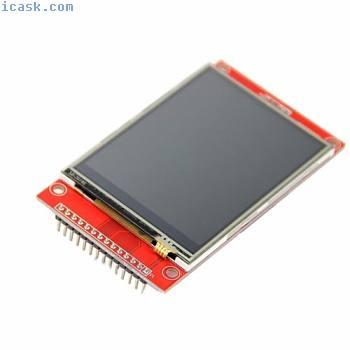 "LCD触摸屏240 x 320 2.8""SPI TFT串行端口模块,带PBC ILI9341红色O"