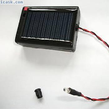 太阳能供电视图红色LED(3毫米)。