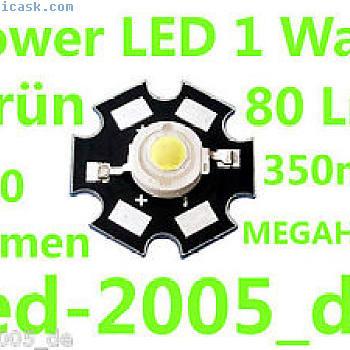 5 x星光功率LED 1瓦80流明绿色,美嘉乐,星光功率LED绿色1瓦特