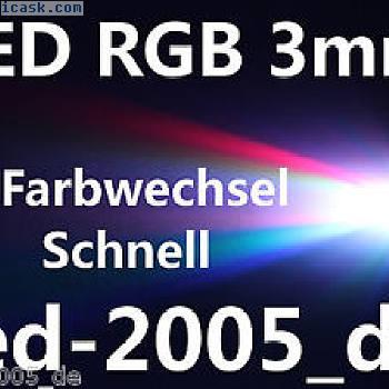 30x LED RGB 3mm变色快速,RGB LED 3MM MEGAHELL,RGB LED 3mm方便