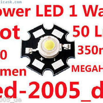5×星电源LED 1瓦50流明腐烂,兆欧表,星电源LED灯1瓦特