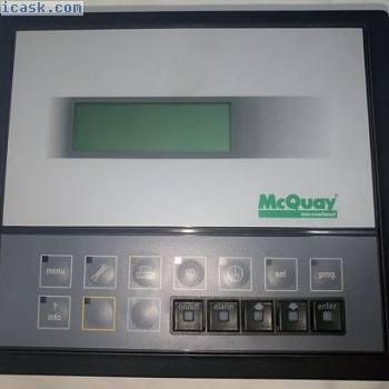 CAREL PCOIMQ0CBB使用MCQUAY CHILLER 4X20P的操作员界面