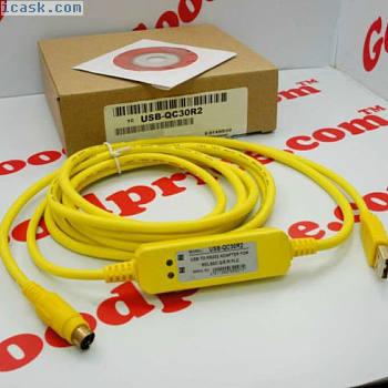 NIB三菱可替换PLC电缆USB-QC30R2 RS232