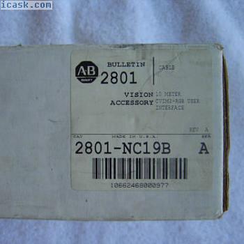 NIB Allen Bradley电缆10米2801-NC19B