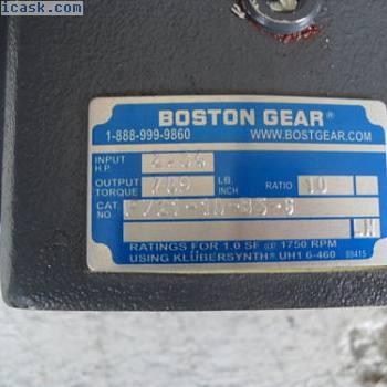 """波士顿齿轮F721-10-B5-G轴1""""58""""输入口比例为10:1"""