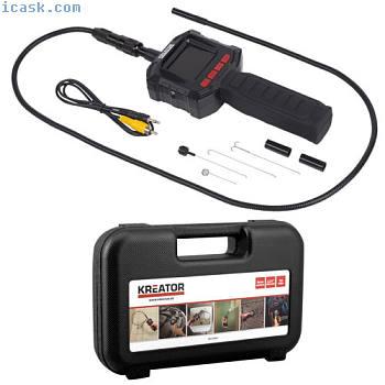 内窥镜摄像机管相机98厘米软管长度2.31英寸显示屏防水LED