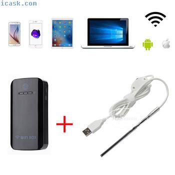 6LED 5.5毫米Wifi内窥镜防水蛇内窥镜USB检查相机