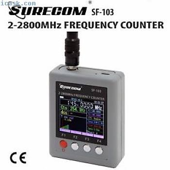 SURECOM SF-103便携式频率计数器2MHz  -  2.8GHz