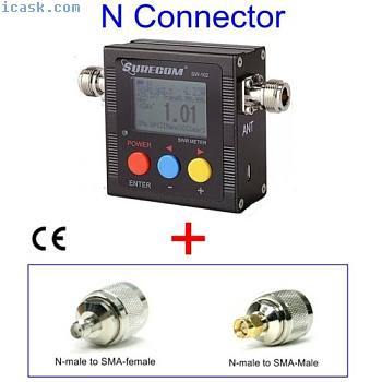 SURECOM SW102 VSWR频率计+ SMA适配器BAOFENG UV-5R收音机