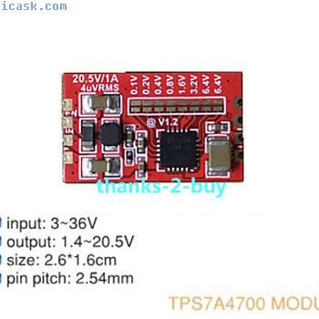 TPS7A4700低噪声LDO稳压器射频电源模块1.5V-20V 3.3V 5V 12V 1A