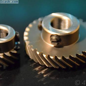 2齿轮斜齿轮90°齿轮12 u 9,5mm正齿轮驱动斜齿轮