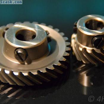 2齿轮斜齿轮90°齿轮箱10 u 9,5mm正齿轮驱动斜齿轮