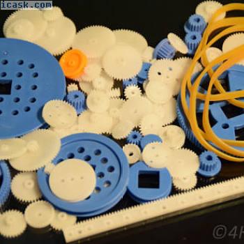 80 + 10个齿轮组驱动轮+驱动橡胶塑料齿轮