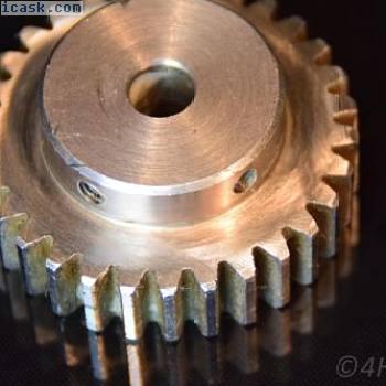 钢齿轮,小齿轮1.5M30T齿轮模块1.5驱动30齿金属8mm轴