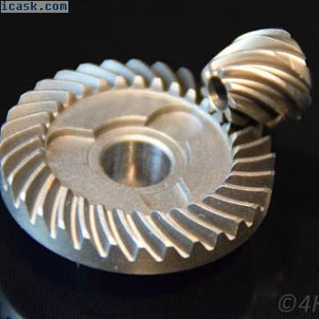 齿轮+小齿轮32-9齿轮齿轮11.7 + 6毫米驱动齿轮钢90°