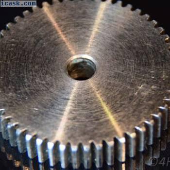 钢齿轮,小齿轮1M52T齿轮模块1.0驱动52齿金属8mm轴